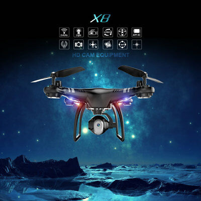 Drones with HD Camera 0.3MP RC Quadcopter FPV Phone App Control WIFI Live Video