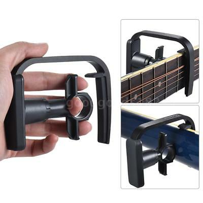 3-Finger Version  Straight-press Folk Guitar Capo Clamp with 1pc I1G7