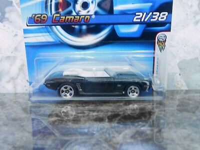 2006 Hot Wheels First Editions '69 Camaro Black Convertible In Very Good Shape
