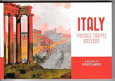 ITALY VINTAGE TRAVEL POSTERS ... a book of 30 color postcards