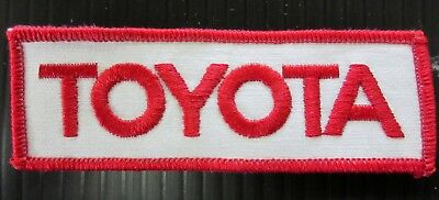 New Vintage Embroidered  Toyota Patch NOS (1970-1980)