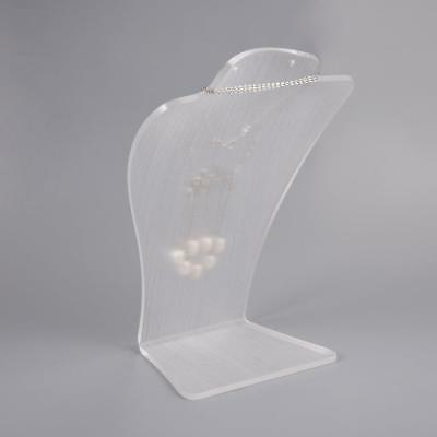 Clear Earrings Necklace Display Stand Holder Mannequin Jewelry OrganizSQ BG