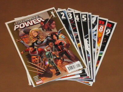Ultimate Power #1 - 9 Vf+ Complete Set Squadron Supreme Bendis Straczynski Land