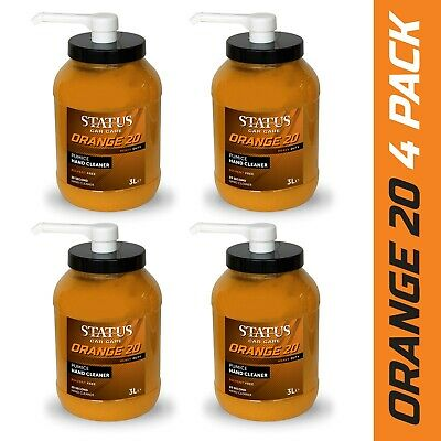4 x Swarfega 4 L Orange Heavy Duty Hand Cleaner Solvent Free Pump 4 Litre