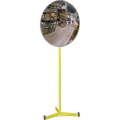 """Acrylic Indoor Convex Mirror with Portable Metal Stand, 18"""" Diameter, Lot of 1"""