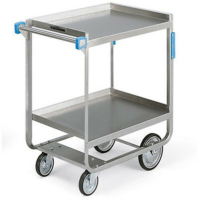 "LAKESIDE Heavy-Duty Stainless Steel Carts - 33""Wx21""D Shelf - 2 Shelves, Lot of"