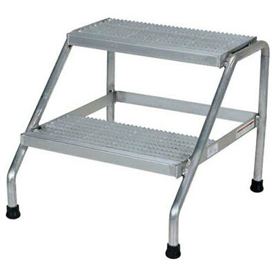 Step Stand, 2 Step, Welded, Aluminum, Lot of 1