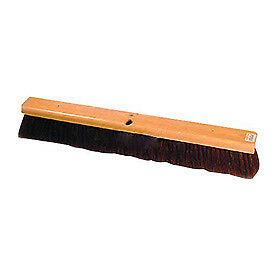 Wood Push Broom, Horsehair, Lot of 1