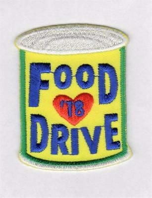 Girl Boy Cub FOOD DRIVE '18 2018 Collection Fun Patches Crests Badge SCOUT GUIDE