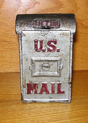 "c.1912-1931 Kenton or A.C. Williams ""U.S. MAIL (Narrow)"" Cast Iron Bank"