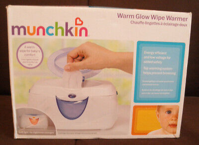 Munchkin Warm Glow Wipe Warmer Dispenser Purple New In Box