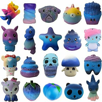 Galaxy Squishy Toys Slow Rising Scented Squishies Squeeze Stress Reliever Mobile