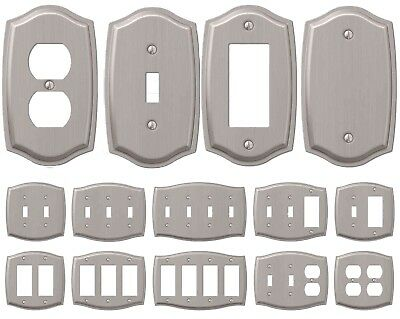 Wall Light Switch Plate Rocker Toggle Cover Decorative Brushed Nickel 1 Gang 7 99 Picclick