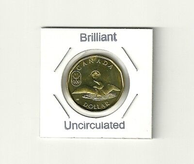 2012 Canada $1 One Dollar / Olympic Lucky Loonie / Brilliant and Uncirculated