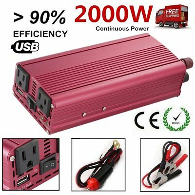 4000W Peak Modified Sine Wave Power Inverter DC 12V to AC 110V Car Converter FU