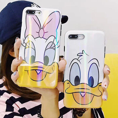 Cute Bling Polar Lights Daisy Donald Duck Case Cover for iPhone X 6 6S 7 8 Plus