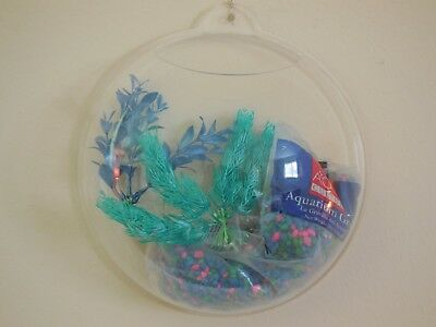 Fish Bubble - Wall Mounted Acrylic Fish Bowl New with Decorations included