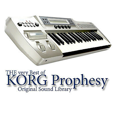 KORG PROPHESY - Sound Library Original Samples in WAVEs format on DVD