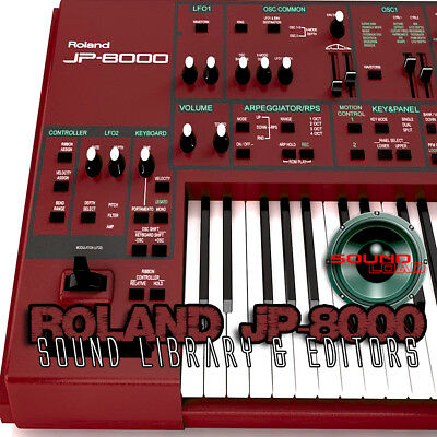 for ROLAND JP-8000 Original Factory & New Created Sound Library/Editors on CD