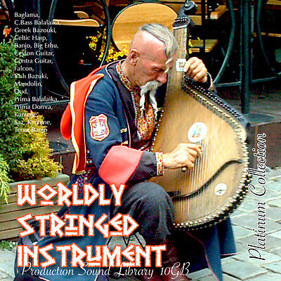 STRINGED WORLDLY INSTRUMENTS Huge Sound Production Library on 3DVD over 10.5GB