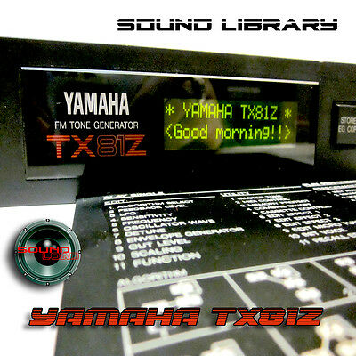 YAMAHA TX81Z HUGE Original Factory & New Created Sound Library/Editors on CD