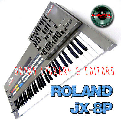 for ROLAND JX-8P Original Factory and NEW Created Sound Library & Editors on CD