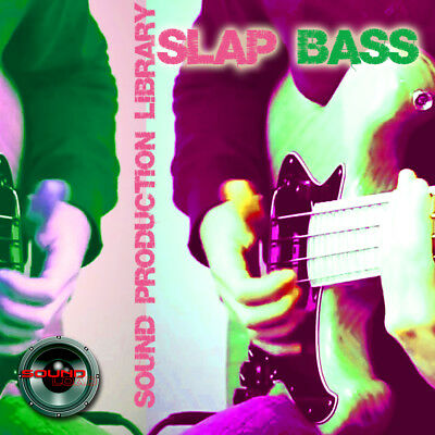Slap Bass Guitar- HUGE Unique Original Multi-Layer Studio Samples Library on DVD