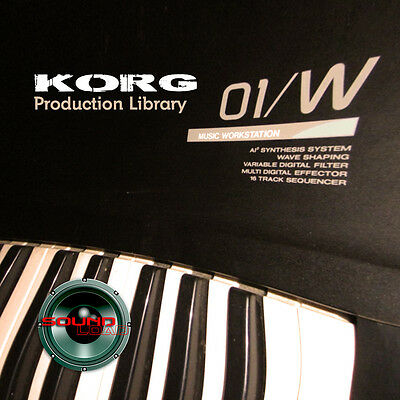 KORG 01/W THE very Best of - Large Original 24bit WAVE Samples Library on DVD