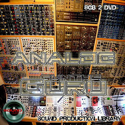 ANALOG SYNTH GURU - UNIQUE original Multi-Layer Studio WAV Samples Library 2DVD