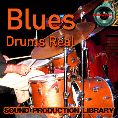 BLUES DRUMS Real - Large original Samples/loops production Library on DVD