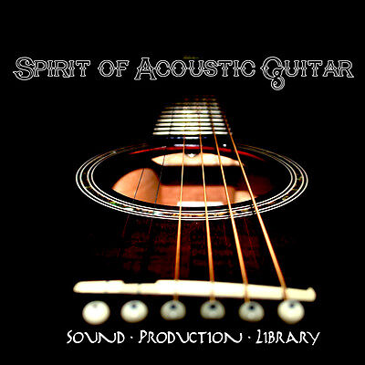 ACOUSTIC GUITAR SPIRIT - Real MULTI-LAYER WAVE SAMPLES over 3.500 Objects on DVD