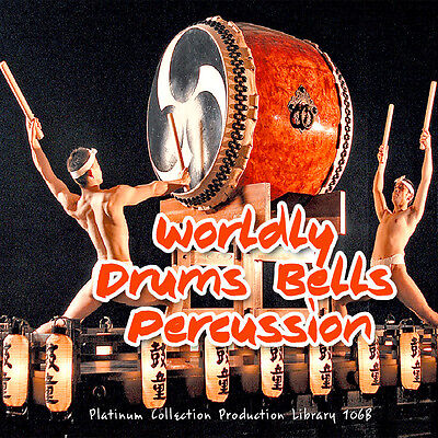 DRUMS/PERCUSSION WORLDLY INSTRUMENTS Production Library 3 DVD over 10.5GB