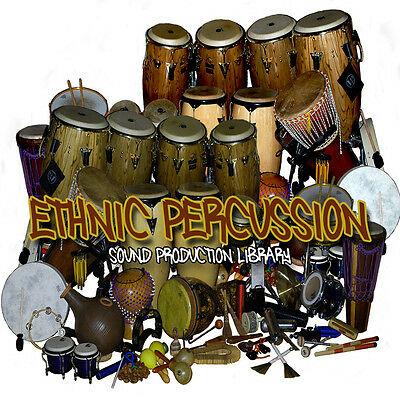 ETHNIC PERCUSSION INSTRUMENTS and SOUNDS - Large Samples Library 1.4 GB on DVD