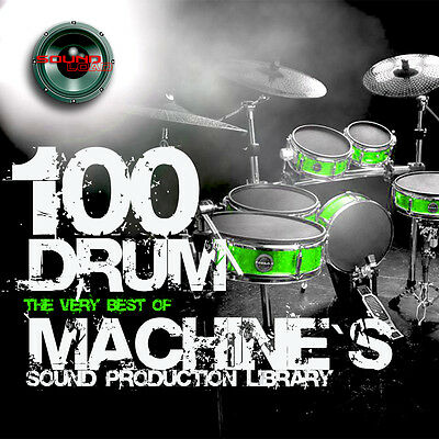 100 DRUM MACHINES - the best Original WAVEs Studio Samples Library 4.67GB on DVD