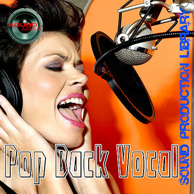 POP REAL Back Vocal - Perfect 24bit WAVE Multi-Layer Samples Library on DVD
