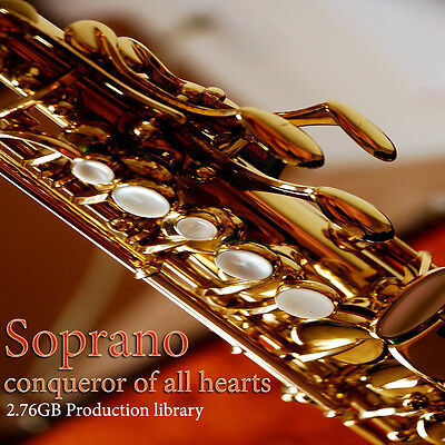 SAX-SOPRANO REAL -Large Multi-Layer WAVE Sound Library 2,76GB on DVD or download