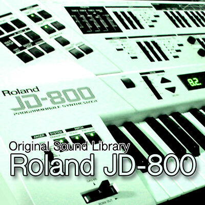for Roland JD-800 - unique original WAV/Kontakt Multi-Layer Samples Library DVD