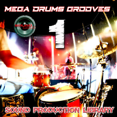 MEGA DRUMS GROOVES 1 - PRODUCTION LIBRARY - Kits/Loops/Performances 8GB 2DVDs
