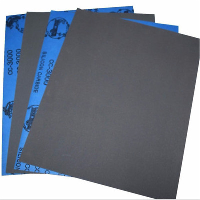 Wet dry Sandpaper Sheets 400/600/800/1000/2000/3000/5000 Grit Polish Newly