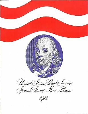 1972 USPS Commemorative Year Set with Stamps & Mini Album