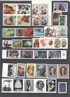 US 2004 Commemorative Year Set with 42 Stamps MNH