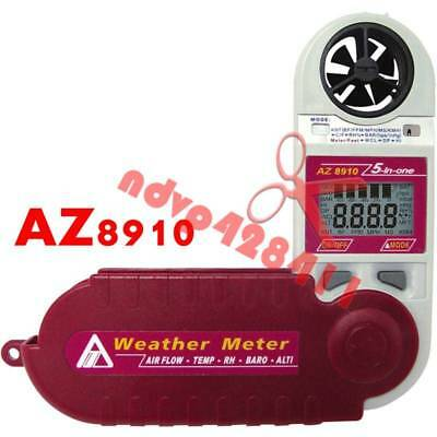 AZ8910 wind speed weather air pressure height 4-in-1 anemometer