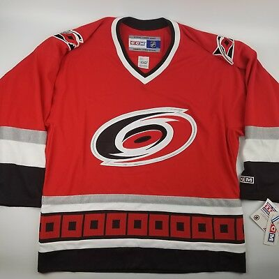 Carolina Hurricanes NHL CCM Hockey Jersey Size Large Red Embroidered 806d7d83b