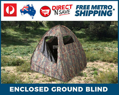 Carbon Coated Ultra Light Fully Enclosed Blind Tent Camouflage Hunting Camping