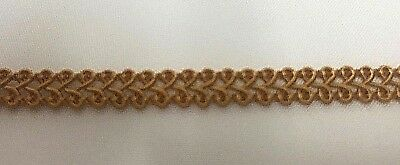 6mm Old Gold Gimp Braid TR948 Colour 52 Rayon Trim Buy by the Metre Craft Trim