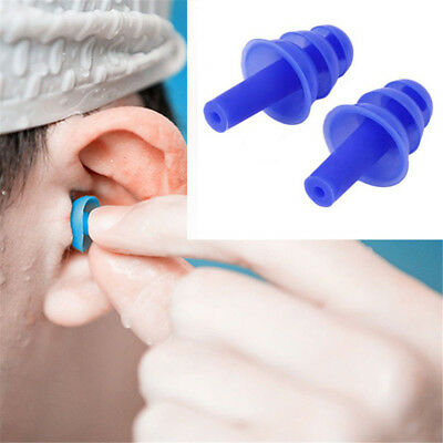 2pair Silicone Ear Plugs Anti Noise Snore Earplugs For Study Sleep Comfortable