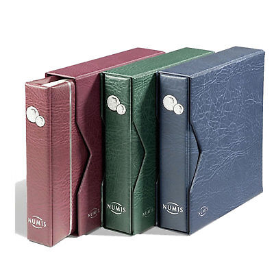 Lighthouse - Numis Coin Album and Slipcase Including 5 Mixed Coin Pages - Blue