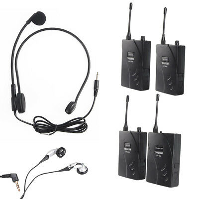 Durable Takstar UHF-938 Wireless Tour Guide System 1 Transmitter &  Receivers