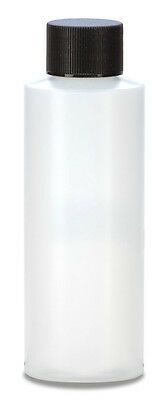 4 oz (120 ml) HDPE Plastic Bottles with CAPS (Lot of 100) You choose Cap Style