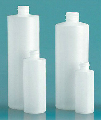 16 oz HDPE Cylinder Round Plastic Bottles w/Polytop Dispensing Caps (Lot of 50)